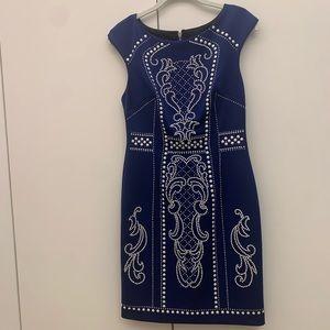 Alexa admour embellished royal blue dress